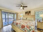 Master Bedroom with Private Bath and Access to Screened Porch at 11 Wildwood